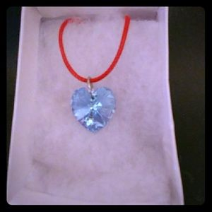 Jewelry - Florida Blue Crystal Heart Necklace